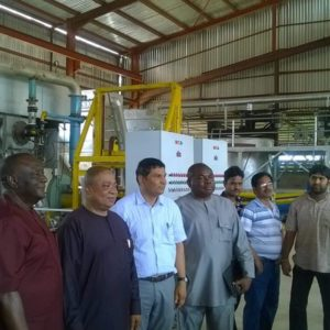 Dr Cletus M Ibeto CON commissions the rotary furnace